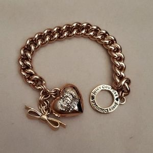 Juicy Couture Heart Locket Style Bracelet